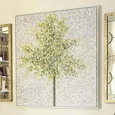 >snowbirds and blossoms hand painted grey and green canvas