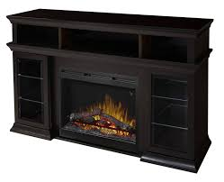 dimplex bennett espresso media console electric fireplace with logs to enlarge