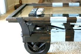 Diy Industrial Coffee Table Coffee Table The Diy Wooden Coffee Table With Wheels For Rustic