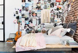 Emily Henderson Target Dorm Room Back To School Boho Eclectic Collage Wall  Rocker Chic Musician Artistic