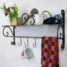 hanging towel.  Hanging Iron Craft Wall Hanging Towel Rack Bathroom Storage Shelf For