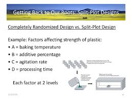 Split Plot Design Example Getting Back To Our Roots Ppt Download