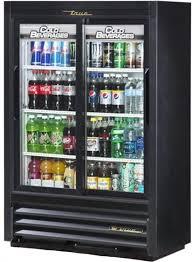 true gdm 33ssl 54 ld 36 2 slide glass door merchandiser refrigerator lower height narrow depth
