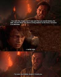 "Obi-Wan Kenobi: ""You were the chosen one! It was said that you ... via Relatably.com"