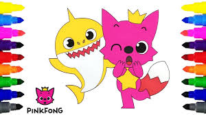 Pinkfong Baby Shark Coloring Pages For Kids Shopkins Page Coloring
