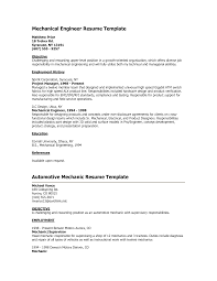 Resume After Mechanical Engineering Degree Sales Mechanic