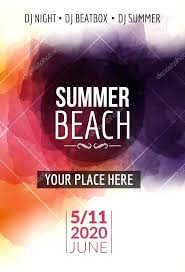 Summer Beach Party Flyer Template Design Layout Event Book Signing