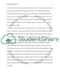 gender diversity in education essay example topics and well  gender diversity in education essay example