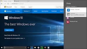 Micro Soft Home Page Share A Web Page In Microsoft Edge Tutorial Teachucomp Inc