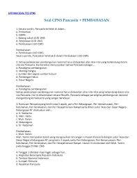 Download soal cpns dan kunci jawaban, download soal cpns, soal cpns pdf, soal tes cpns dan pembahasan pdf, download gratis soal cpns, kumpulan soal cpns dan jawabannya, soal cpns dan pembaha…full description. Soal Cpns Pancasila Pembahasan