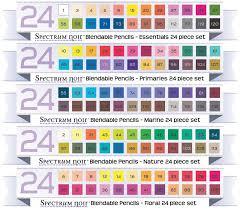 Spectrum Noir Blendable Pencils Color Chart Markers