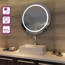 Led Bad Spiegel Rund Badezimmer Lichtspiegel Rund Mit Beleuchtung