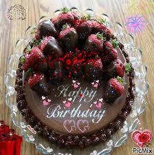Chocolate Strawberry Birthday Cake Picmix