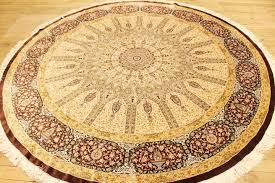 fancy large round rugs d2009795 large round silk rugs with 8 round pure silk masterpiece large quality large round rugs
