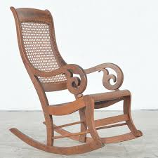 antique rocking chair with cane seat and back ebth within plan 6