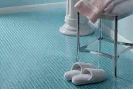 bathroom floor tile blue. This Bathroom Has Tiny Sky Blue Glass Floor Tiles. Tile N