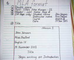 English Paper Heading High School Mla Heading Format For All Assignments Google