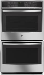 ge pt9550sfss 30 inch double electric wall oven with preciseair convection wifi connect self clean 5 0 cu ft upper oven 5 0 cu ft lower oven