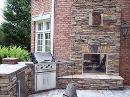 image of stone indoor outdoor fireplace