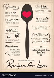 card recipe recipe card wedding invitation cooking concept