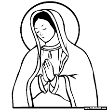 Our Lady Of Guadalupe Online Coloring Page
