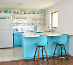 Blue Painted Kitchen Cabinets Aqua Painted Kitchen Cabinets Quicuacom