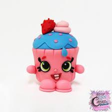 Cupcake Girl Shopkin Cake Topper Etsy