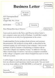 7 Parts Of A Business Letter Business Letter