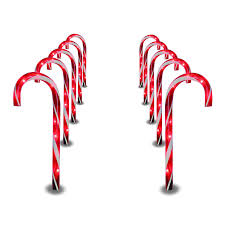 Plastic Candy Cane Decorations Amazon Prextex Christmas Candy Cane Pathway Markers Set of 12