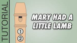 Mary Had A Little Lamb Flute Finger Chart Mary Had A Little Lamb Recorder Notes Tutorial Very Easy