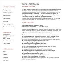 Event Coordinator Resume Wonderful 4920 24 Sample Event Planner Resumes Sample Templates
