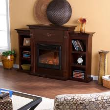 southern enterprises jackson 70 25 in freestanding electric fireplace in classic espresso with bookcases