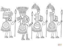 Small Picture Aztec Coloring Pages zimeonme