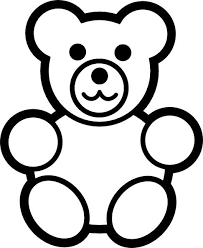 Small Picture Teddy Bear Coloring Page for Kids Free Printable Picture