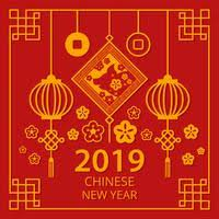 Chinese New Year 2019 Free Vector Art 11020 Free Downloads