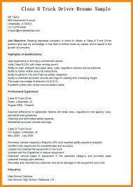 Resume Truck Driver Position Resume For Driver Position Under Fontanacountryinn Com