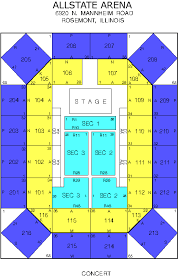 Uic Concert Seating Chart All State Arena Seating Chart Blue Chip Casino Theater