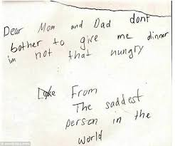 the funniest letters adults have received from children revealed this heartbreaking note for mum and dad is written from the saddest person in the