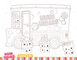 Cool Num Nums To Color Num Nums Toys Free Printable Coloring Pages