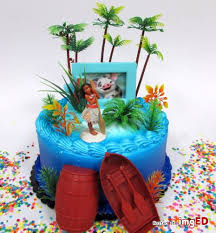 Disney Party Cake Moana 12 Piece Tropical Themed Moana Birthday Cake