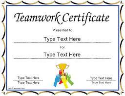 Teamwork Certificate Templates Special Certificate Team Work Certificate Certificatestreet Com