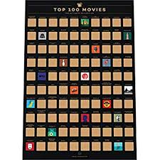 Pop Chart 100 Essential Movies Gift Republic 100 Movies Scratch Off Bucket List Poster