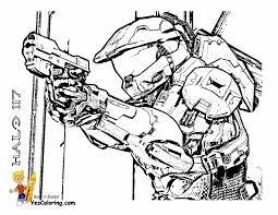 Small Picture Halo Coloring Sheets Game Gekimoe 7068