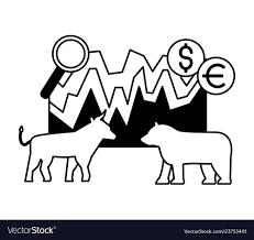Bull Bear Dollar Euro Chart Stock Market