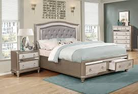 Coaster Furniture Bling Game 2pc Bedroom Set with Cal King Bed