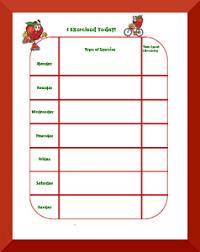 Exercise Behavior Charts