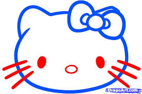 Small Picture How to Draw Hello Kitty for Kids Step by Step Characters Pop