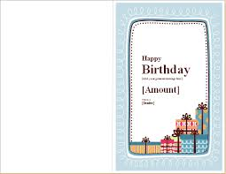 Birthday Note Card Template For Word Word Excel Templates