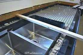 nice concrete countertop forms diy or z form concrete countertops how make diy cast in place
