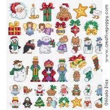 60 Christmas Cross Stitch Mini Motifs Cross Stitch Pattern By Maria Diaz